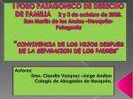 Autores: Dres . Claudia Vazquez –Jorge Andion Colegio de Abogados de Neuquén.