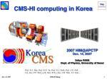CMS-HI computing in Korea