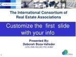 The International Consortium of Real Estate Associations