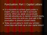 Punctuation: Part 1 Capital Letters