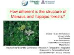 How different is the structure of Manaus and Tapajos forests?