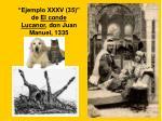 """""""Ejemplo XXXV (35)"""" de El conde Lucanor , don Juan Manuel, 1335"""