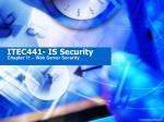 ITEC441- IS Security