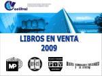 LIBROS EN VENTA 2009