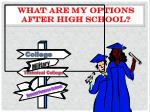 What are my Options after High School?