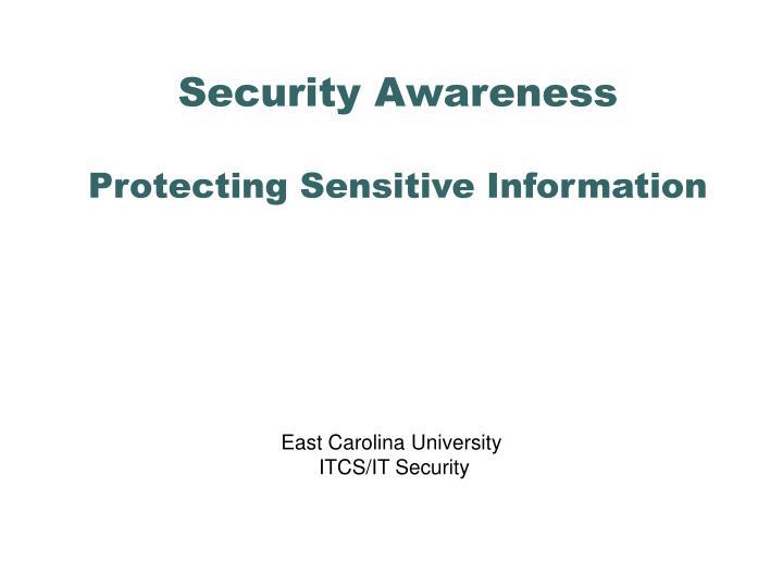 security awareness protecting sensitive information n.