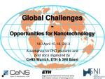 Global Challenges - Opportunities for Nanotechnology