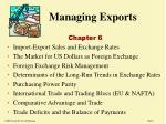 Managing Exports