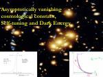 Asymptotically vanishing cosmological constant, Self-tuning and Dark Energy
